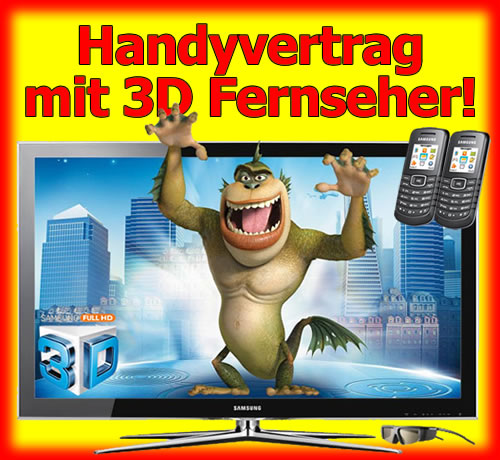 Handy Bundle 3D Fernseher mit 3D Brille